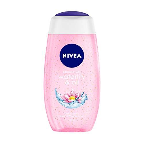 NIVEA Shower Gel, Water Lily & Oil Body Wash, Women, 250ml