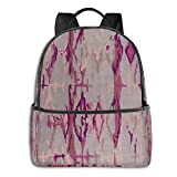 Purple Mountain Bicycle Laptop Backpack Fashion Theme School Backpack