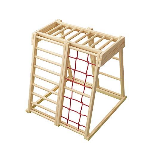 HSJCZMD Holzklettergerüst, Kinderwand-Klettern, hält Indoor Climbing Kinderkletterfelsen Set Klettergerüst für Kinder,A