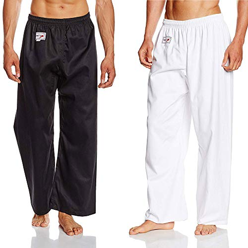 TurnerMAX - Pantalones de Entrenamiento para Artes Marciales, Karate, Kung fu, Kick Boxing