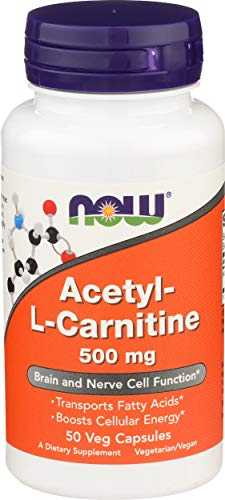 Now 500mg Acetyl L Carnitine 50 Count