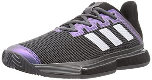 adidas SoleMatch Bounce M Clay, Zapatillas de Tenis Hombre, NEGBÁS/FTWBLA/Gricin, 46 2/3 EU