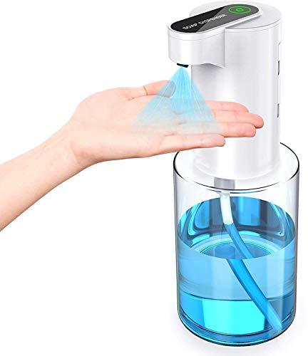 WIXTHUS Dispensador automatico de Alcohol y Jabon Espuna sin Contacto Dispensador Automático Desinfectante con Sensor, para el hogar, Restauración, Oficina, Hotel, Hospital (350 ml) Impermeable IPX4