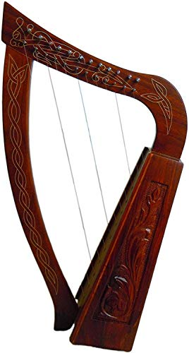 12 Strings RoseWood Harp 25' Tall Comes with Free Bag, Strings and Tuning Key