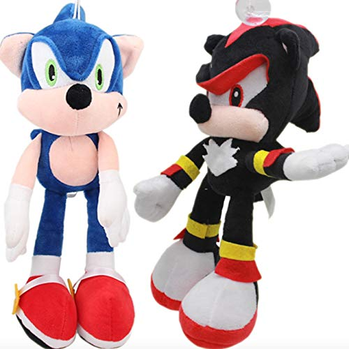 2 stuks 30cm Sonic the Hedgehog Knuffel Black Shadow
