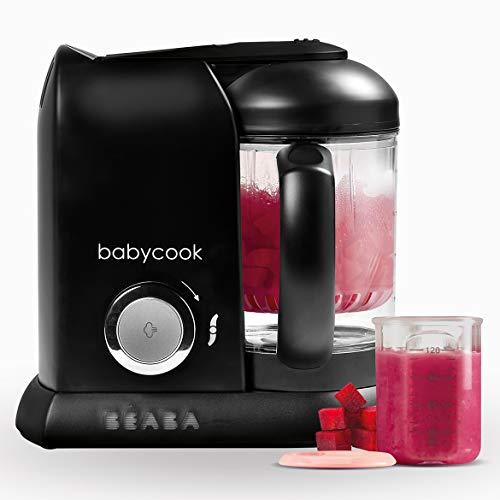 Béaba Babycook Solo Robot de cocina infantil 4 en 1 Tritura, cocina y cuece al vapor Cocción rápida Comida casera y deliciosa para bebés y niños Comida variada para tu bebé Negro