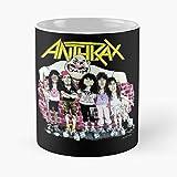 Pandawa12 New Anthraxs 2021 Band Heavy from City Legend York Tour American Metal Speed Thrash Eat Food Bite John Best Taza de café de cerámica de 315 ml