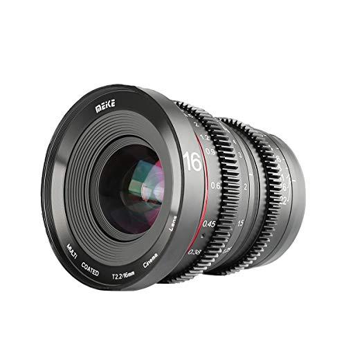 Meike 16mm t2.2 大口径マニュアルフォーカスプライムミニシネマレンズ用マイクロフォーサーズM43 MFTカメラ とBMPCCに対応