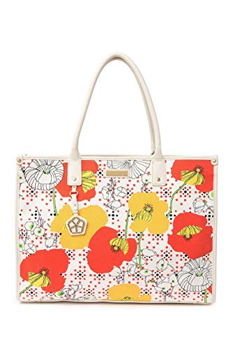 Trina Turk Handbags, Large Canvas Tote With Coated Lining (Floral)
