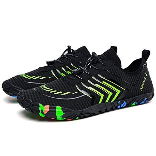 WggWy Zapatos de Agua para Hombres y Mujeres, Secado rápido Descalzo de Zapatos Deportivos bajo el Agua adecuados para Nadar Surfing Playa Caminar Yoga,Gris,36