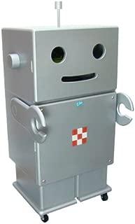 HERO 木製収納ロボ ロビット(Robit) シルバー 収納家具/キャスター付き/ロボット/本棚/可動棚/キャビネット/オシャレ/個性的/かわいい