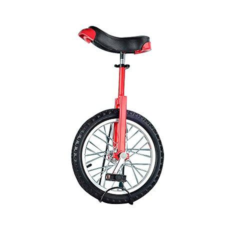 SENQI自転車 一輪車 子供用 スタンド付属 16インチ レッド