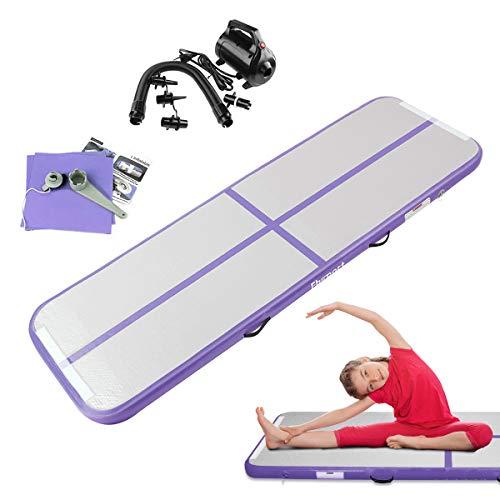 FBSPORT Airtrack Matte, 2M Länge Aufblasbar Gymnastik Tumbling matten, Floor Trainingsmatten mit elektrisch pumpe