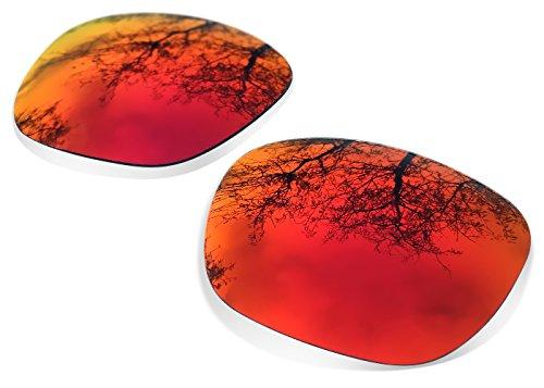 sunglasses restorer Kompatibel Ersatzgläser für Oakley Holbrook, Ruby Red Polarized