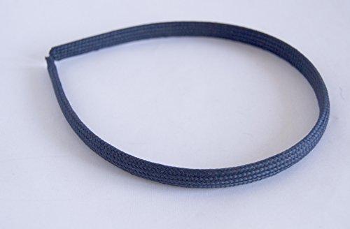 Bandeau Bleu Marine recouverte de tissu tressé. Expédition gratuite 72H