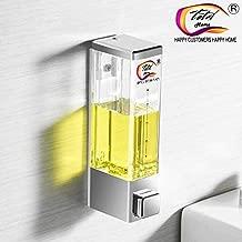 TOTAL HOME® Liquid Soap Dispenser 250MM Black Chrome Wall Mounted Automatic Dispenser Shower Bathroom Lotion Bath Pump Dispensers