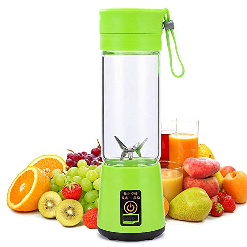Portable Mini Blender,Portable Mini Household juicer Electric juicer Cup-D_6 Leaf Glass