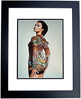 Demi Lovato Signed - Autographed Sexy Singer - Actress 8x10 inch Photo BLACK CUSTOM FRAME