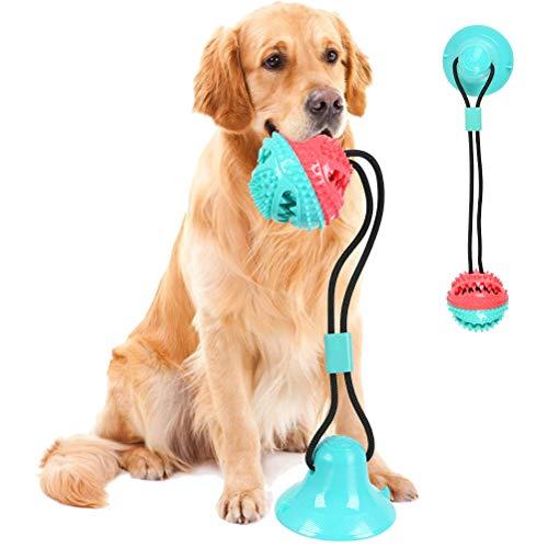 BUYGOO Hundespielzeug mit Saugnapf, Hunde Molar mit Saugnapf Kauseil Ball Pet Spielzeug Hund Zahnbürste Spielzeug für Hund Ziehen, Kauen, Spielen