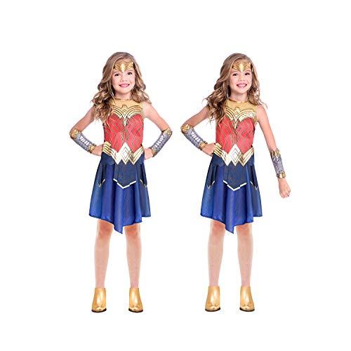 amscan Kind Mädchen Wunder Frau Wonder Woman Warner Bros WW84 Film Kostüm (Alter: 6-8 Jahre)