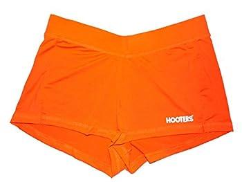 Hooters New Girl Sexy & Stretchy Uniform Orange Shorts Florida Small Halloween