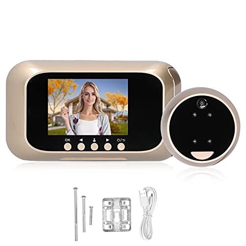 Timbre visual, sistema multimedia integrado Antirrobo Práctico visor de puerta digital Antipalanca de aleación de zinc y plástico para la seguridad del hogar