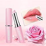 Lucoss Lip Balm Rose Idratante Nutriente Lip Plumper Lip Lines Estratto Naturale Trucco Rossetto, Ottima Scelta e Regalo per Ragazze