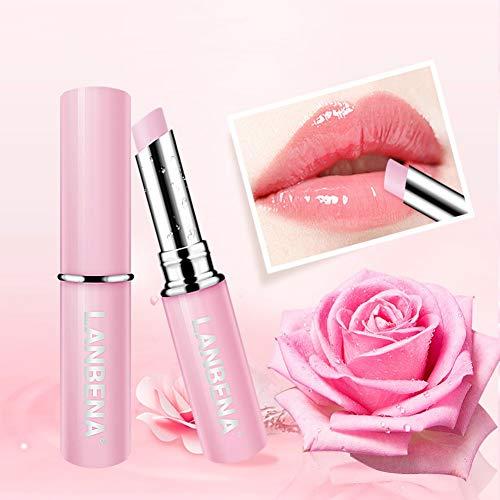 Allbestaye Rose Lippenbalsam Bienenwachs Jojoba Oil 100% Natürlich Lippenpflegestift Lippenstift Lippenpflege