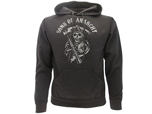 Sons of Anarchy - Sudadera con Capucha - Hombre Negro X-Large