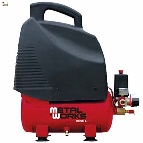 BricoLoco Compresor aire portátil, pequeño y ligero. 8 bares de presión. 1,5 CV de potencia. Depósito 6 lts. ¡¡¡...
