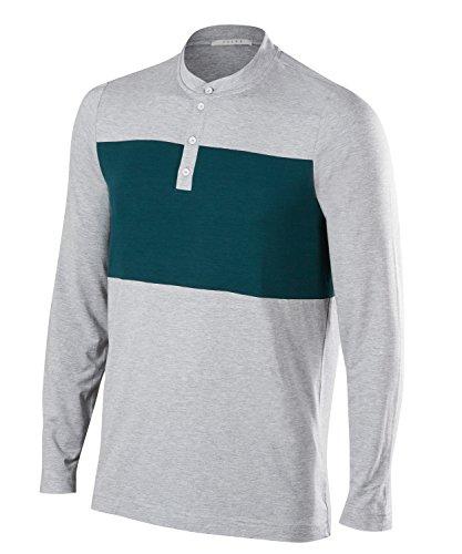 FALKE Herren Golf Polo Poloshirt, Grey Heather, XL