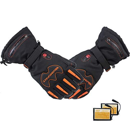 DDPHC Motorhandschoenen, winter, waterdicht, verwarming met USB-aansluiting, elektrisch verwarmde handschoenen met batterij voor skiën, paardrijden