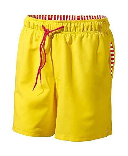Herren Badeshorts Badehose Strandhose Schwimmhose Schwimmshorts Innenhose aus feiner Netz-Qualität (L 6)