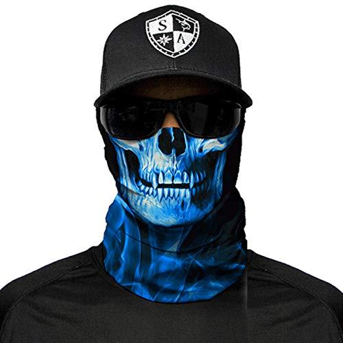 Sa Fishing Company Face Shield Sturmhaube Skull Tech Blue Crow