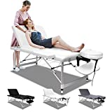 ALFORDSON Portable Massage Table 3 Fold 65cm Wide Aluminium Lift Up SPA Bed