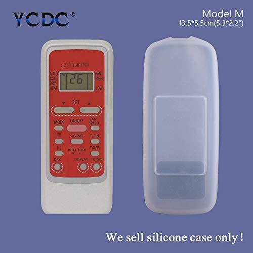 Funda Protectora de Silicona para Mando a Distancia de Midea KFR-22/35GW/ DY-PA402, R51K/RN51A/R51C, AUX, Control Remoto de Aire Acondicionado hualing, Modelo M, tamaño 13,5 x 5,5 x 2 cm, 1 Unidad