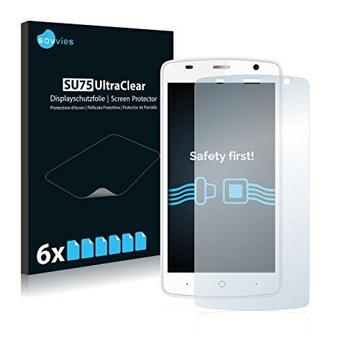 Savvies 6X Schutzfolie kompatibel mit ZTE Blade L5 Plus Bildschirmschutz-Folie Ultra-transparent