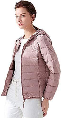 WANGXIAO dames donsjack, lichtgewicht waterbestendig verpakt capuchon stijlvolle lichtgewicht standaard kraag slank opvouwbaar verdikt, M.