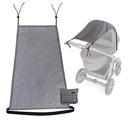 Universal Sonnensegel für Kinderwagen Babywanne - reißfester flexibler Baby Sonnenschutz Kinderwagen mit UV Schutz 50+ Staubdicht Sonnendach für Kinderwagen und Buggy