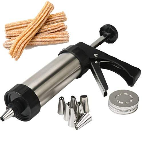 Churreras para churros domesticas - Churrera domestica profesional para churros y porras - Maquina de hacer churros, galletas y postres de acero inoxidable