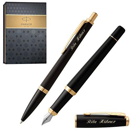 PARKER Schreibset URBAN Muted Black G.C. mit Gravur Füller und Kugelschreiber mit Geschenk-Etui