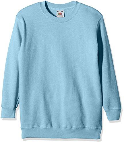 Fruit Of The Loom Childrens Big Boys Set in Sleeve Sweatshirt (12-13) (Sky Blue)