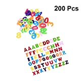 Healifty fühlte Zahlen und alphabete Stoff ABCs Patches