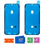 MMOBIEL 2X Pegatina Adhesiva pre-Cortada Impermeable Compatible con iPhone XR - 6.1 pulg. Marco LCD