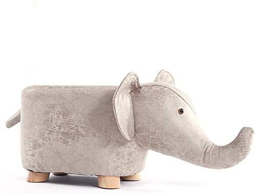WMMCM Tierform, Fußschemel, Ottomanen, Polsterkissen Hocker Hocker Hocker Lehne Sitz Sofa, Stuhl, Braun, Elefant (Color : White)