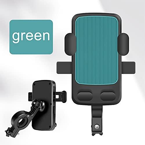 Soporte para teléfonos de bicicleta y motocicleta, soporte para teléfonos de bicicleta (color verde)