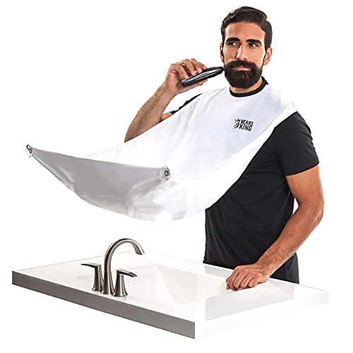 "Beard King - The Official Beard Bib - Hair Clippings Catcher & Grooming Cape Apron - ""As Seen On Shark Tank†…..."