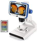 Microscopio USB Digital Andonstar AD205 para niños, para Estudiantes, CMOS 2MP HD de 200X, microscopio de cámara de Video con batería incorporada &Pantalla LCD