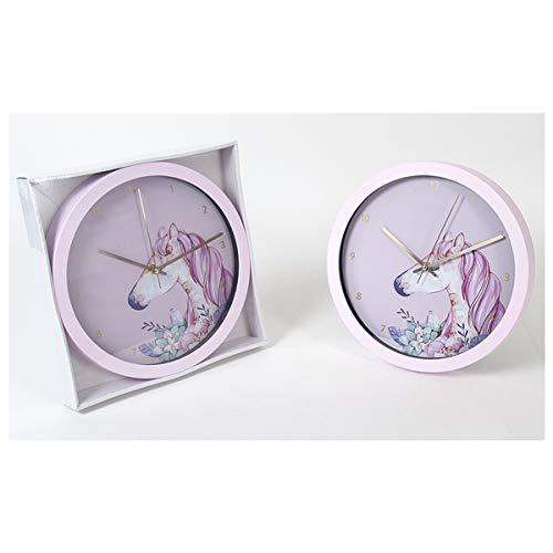 Cisne 2013, S.L. Reloj de Pared decoración para el hogar diseño Unicornio Tamaño 30cm. Reloj de de Pared Decorativo diseño Unicornio.