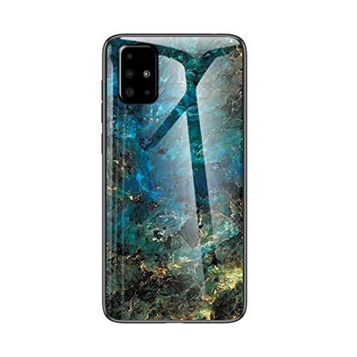 MadBee für Samsung Galaxy A71 5G Hülle [mit HD-Schutzfolie], Marmor Kratzfeste 9H Glas Back & TPU Silikon Rahmen und weichem Bumper Stoßabsorbierende Schutzhülle (Marmor 3)